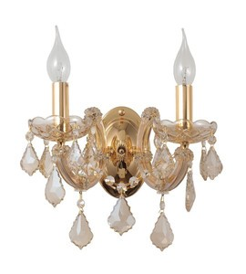 Бра Crystal Lux Ines AP2 Gold/Transparent
